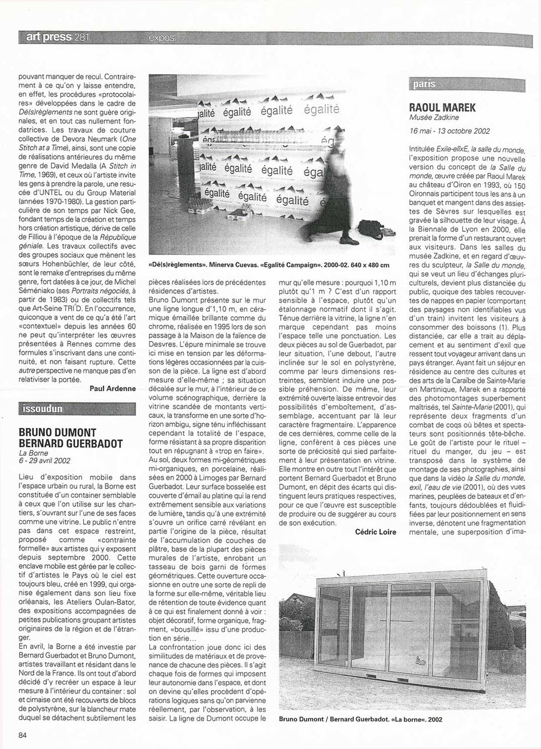 art press, n°281, juillet-août 2002